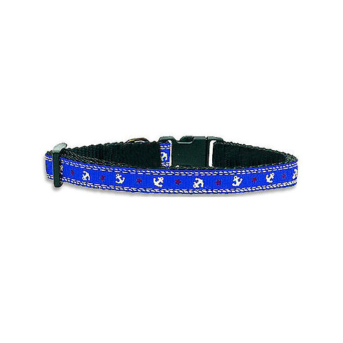 Kennel Designer Anchor Printed Adjustable Collar and Leash for Small Dogs