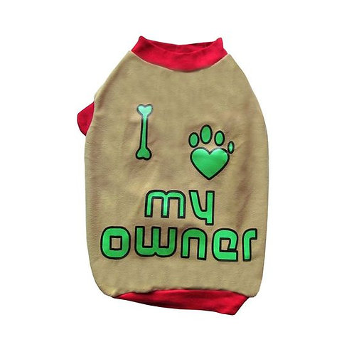 Rays Fleece Warm Who's Boss Rubber Print Tshirt for Toy Breed Dogs