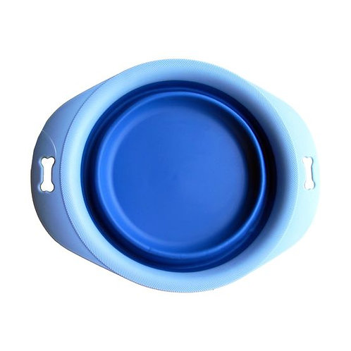 Pawz n Clawz Foldable Silicone Travel Bowl with Tray