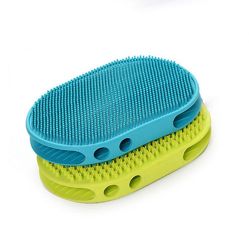 Canine Thick Rubber Massaging and Cleaning Pet Brush