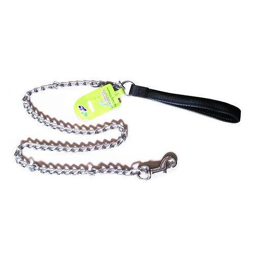 Canine Metal Chain Leash with Padded Nylon Handle