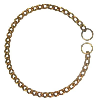 Kennel Brass Choke Chain Collar Medium