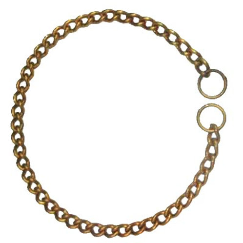 Kennel Brass Choke Chain Collar Extra Thick