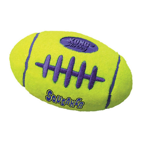 Kong Air Dog Rugby Shaped Squeaker Dog Toy