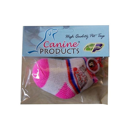 Canine Teaser Socks with Elastic String Bell Cat Toy