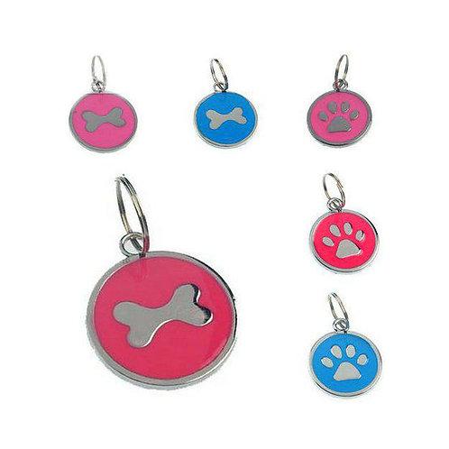Rodium Circular Collar Pendant for Pets