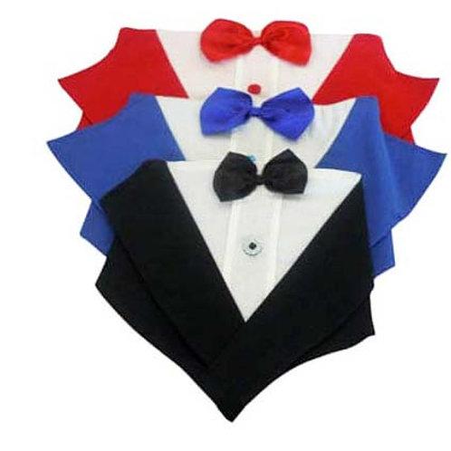 Tuxedo Bandana Neck Collar
