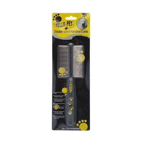 Hello Pet Double Sided Handled Comb