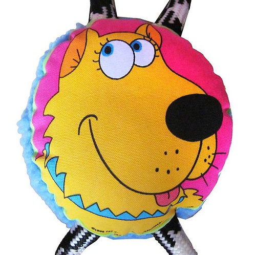 Fat Cat Soft Squeaky Rope Tug Dog Toy