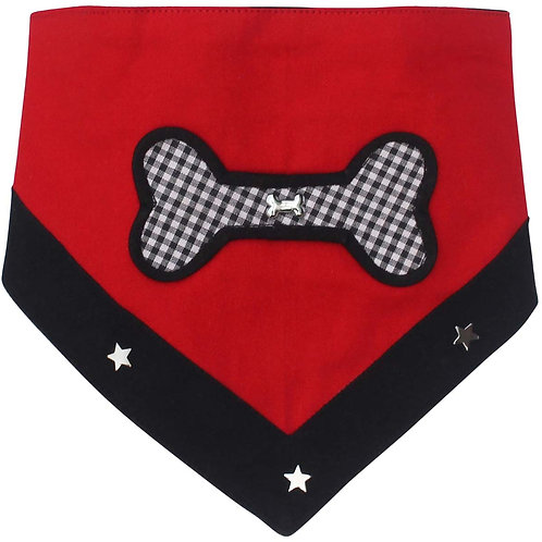 Zorba Designer Bone Bow Bandana for Cats and Dogs