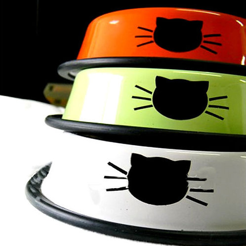 Puppy Love Stainless Steel Designer Cat Feeding Bowl