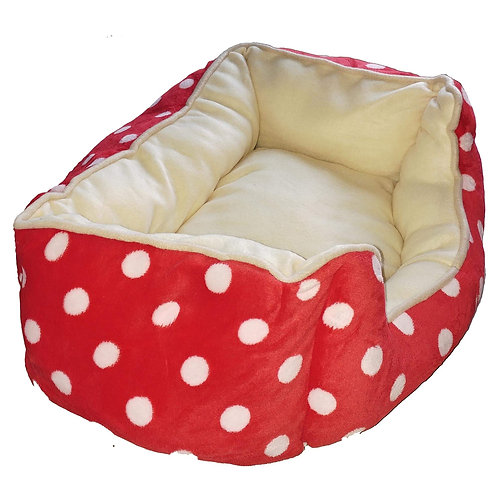 Canine Fleece Soft Foam  Bed for Toy to Medium Dogs
