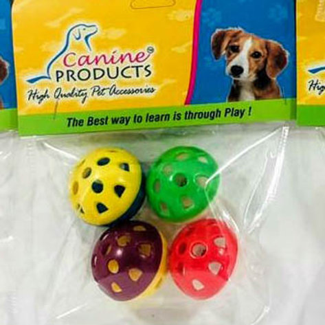 Canine Cat Toy 4x1 Plastic Ball