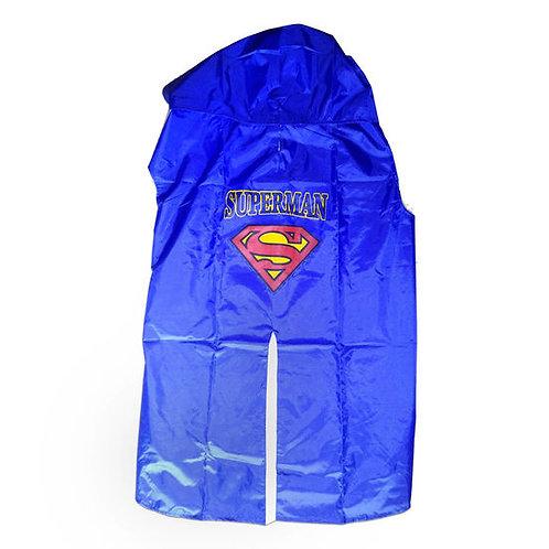 Rays Premium Double Protection Superman Print Raincoat