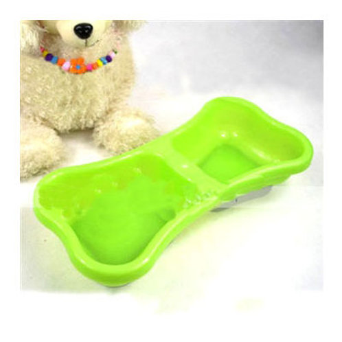 Imported Bone Shaped Anti Skidding Double Bowl for Dogs