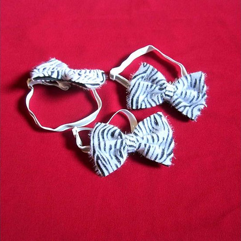 Puppy Love Zebra Tie with Reflective Band for Toy and Small Breed Dogs