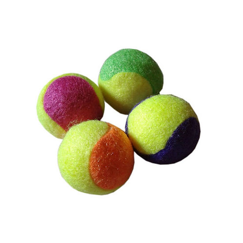 Canine Tennis Ball 4 x 1 Cat Toy