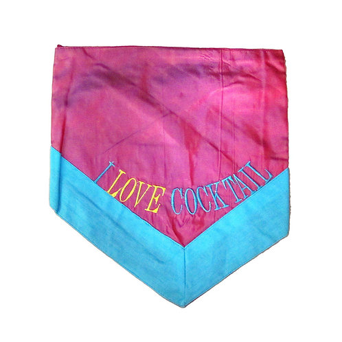 Zorba Designer I Love Cocktail Bandana for Big Cats and Dogs