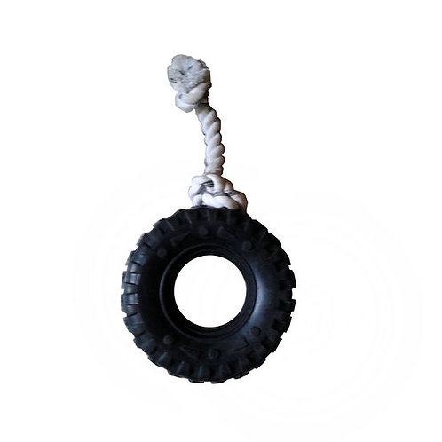 Super Dog Knotted Rope with Tyre Dog Toy