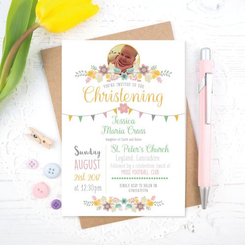 Spring pastel christening invitations darling prints lancashire spring pastel christening invitations stopboris Choice Image
