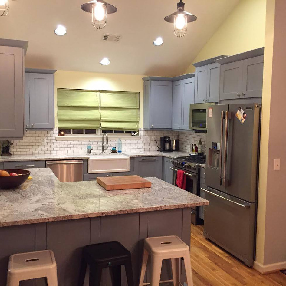 """""""Joshua Cabinetry did a fantastic job on our kitchen, we love it! Great having a personal connection with your builders and contractors! Get ready for the bathrooms next, guys!""""   Zac Hinton – Grant Park"""