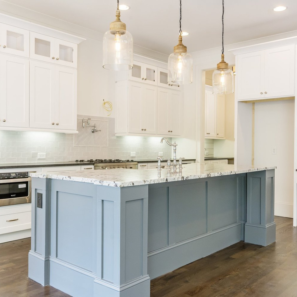 I build fine custom homes in the Atlanta area that are distinguised by their design and quality.   I rely on Joshua Cabinetry for kitchen and bath design, semi-custom and custom cabinetry and installation services.   Their custom islands as seen here really make a design impact.  I would highly recommend.   Josh Hall - JWHall Builders