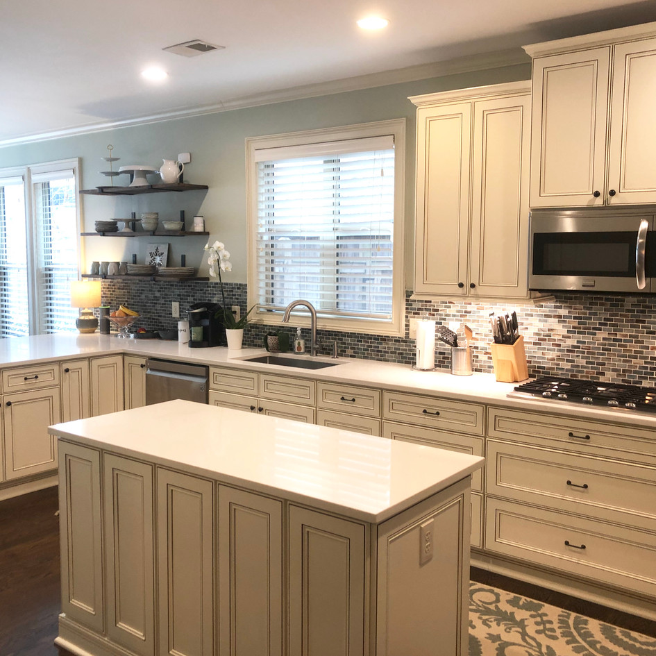 """""""Joshua Cabinetry was exactly what we needed for a kitchen remodel. We didn't know where to start; but they walked us through it by helping with how, when and where to pick out our styles and colors. They had everything else covered. Overall, the project went smoothly, and we are extremely pleased with the high-quality results.   We feel like we have a 'magazine kitchen' now!""""  Ashley and Alicia Taylor - Smynra"""