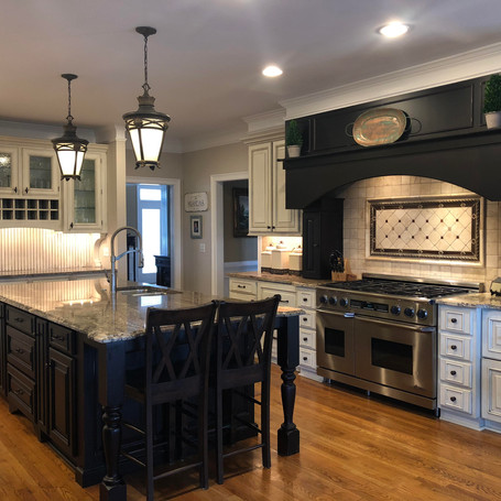 """""""We were referred to Joshua Cabinetry by a friend.  To say we are impressed daily with the craftsmanship in our kitchen, keeping room and both sons' bathrooms is an understatement.  We will most certainly be calling them again for future projects in our home.""""  Angie Mishra - Marietta"""