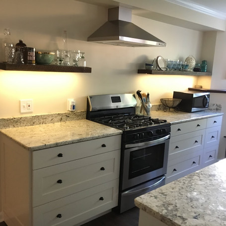 Josh and Brad created a full kitchen in my basement. It's looks amazing. Josh had so many great ideas. These custom cabinets are the best that I've seen. He delivered on schedule and surpassed our expectations.  John Buice - Kennesaw