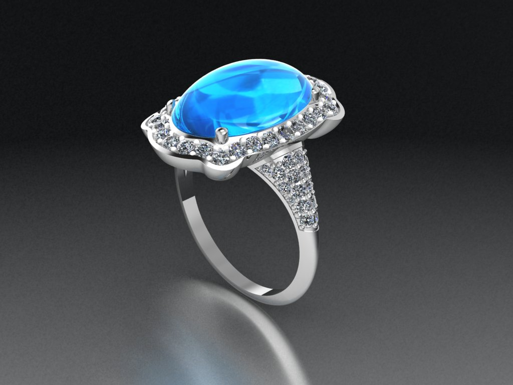 Oval water drop ring Gen 2.0