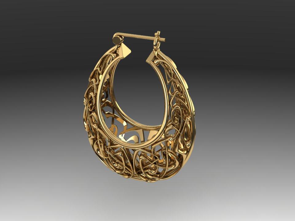 Art Nouveau Earring