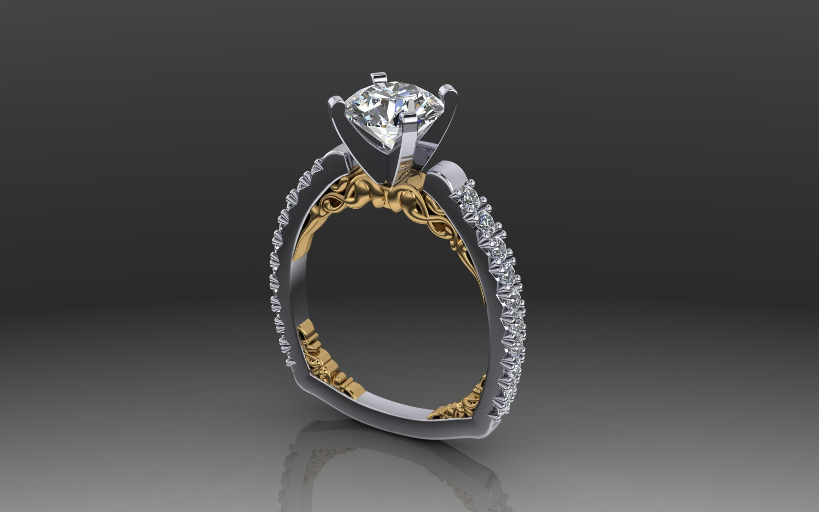 Alpha Engagement Ring