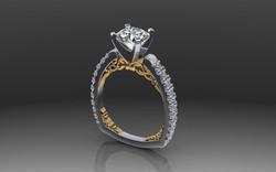 Alpha Engagement Ring