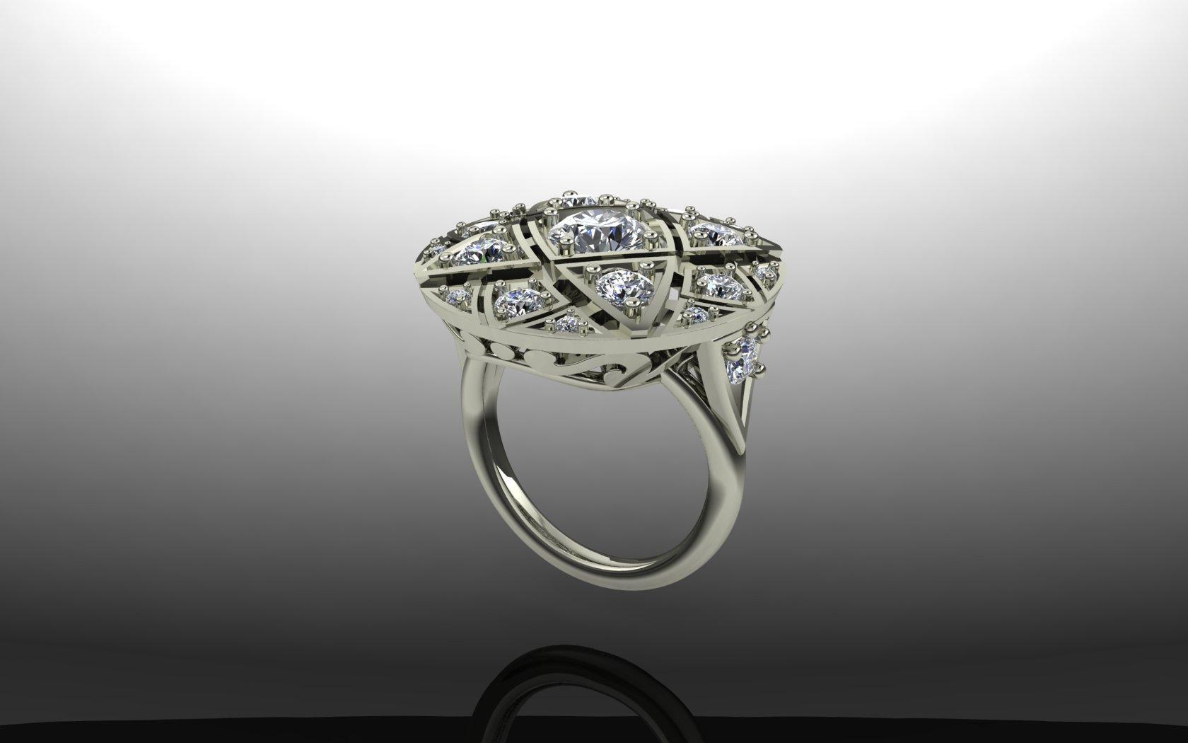 Circular Edwardian ring