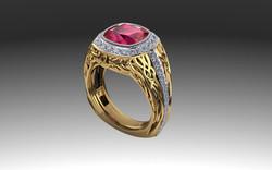 Men's vine ring