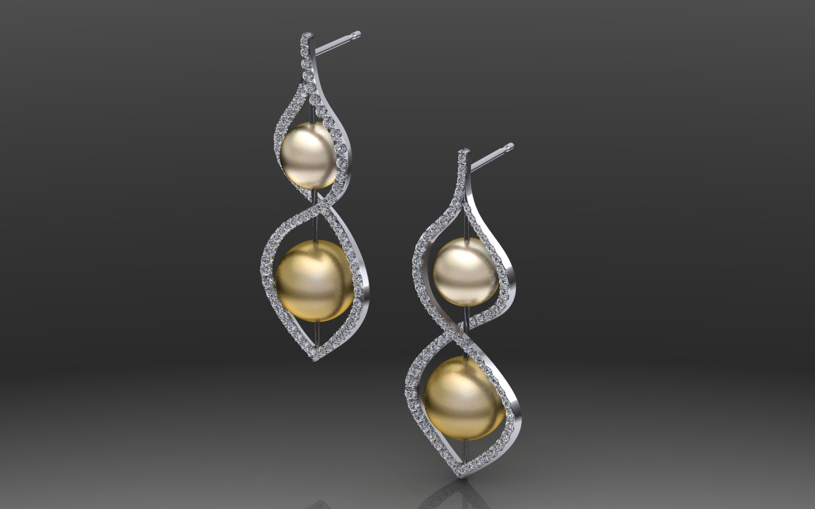Infinity pearl Earring