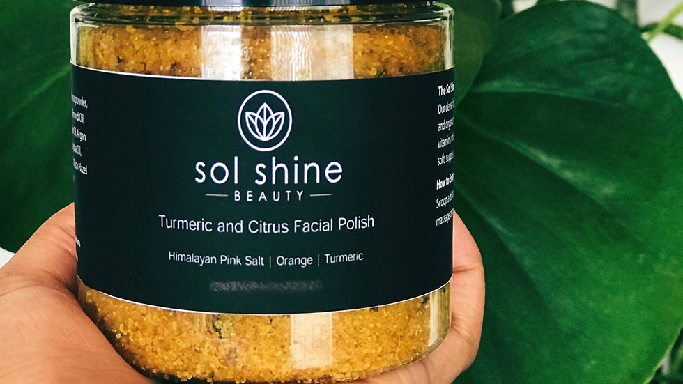 Turmeric and Citrus Facial Polish