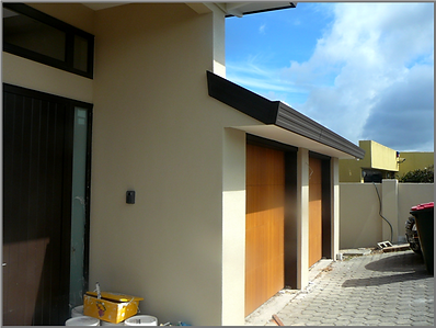 Exterior solid plastering