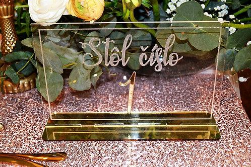 Luxusné čísla na svadobný stôl