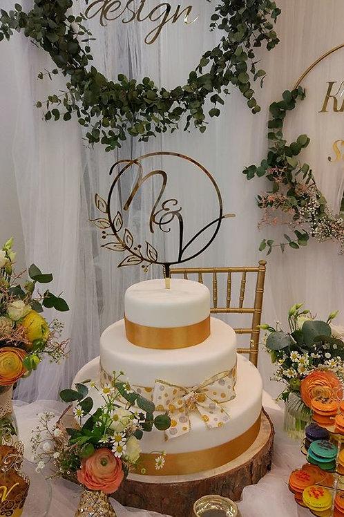 Zápich na svadobnú tortu.