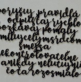 Šťastný život - text na stenu