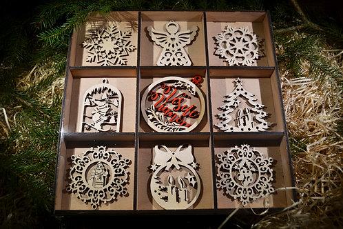 Vianočné ozdoby - darčekový set