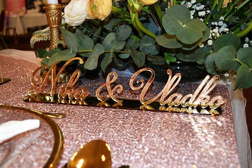 Svadobný nápis
