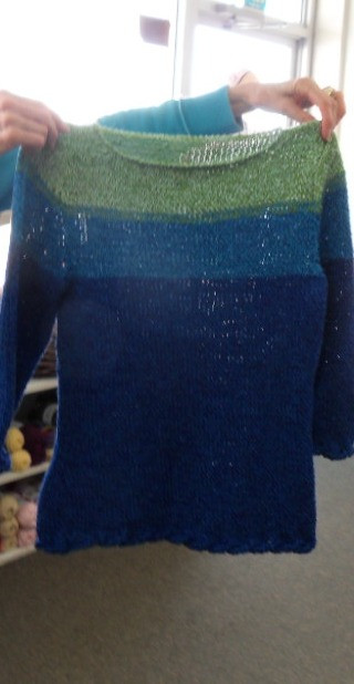 High Tide Sweater made with Cotton Fine yarn