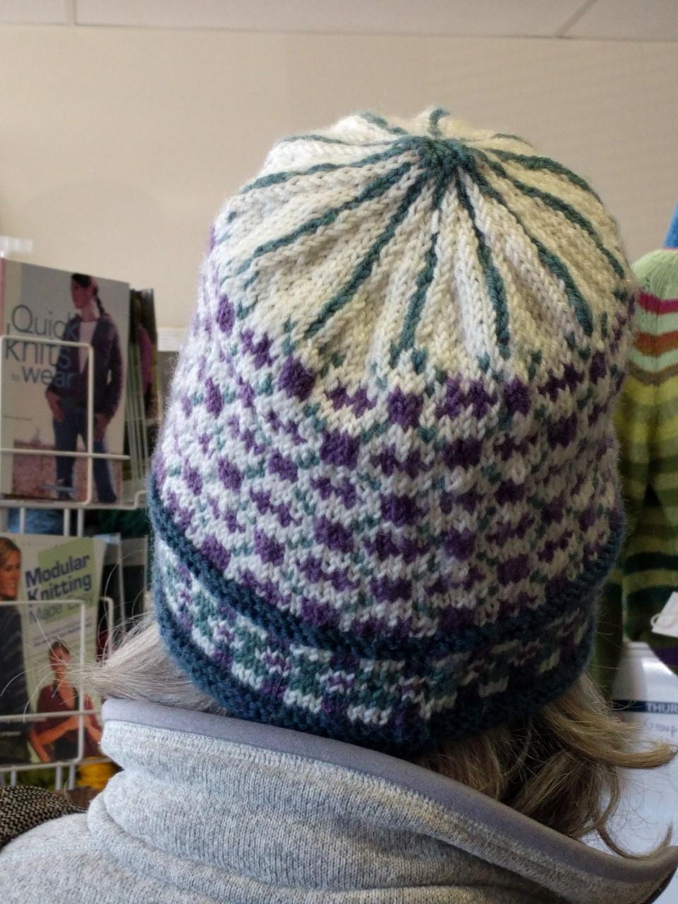 Fair Isle Slouchy Hat Back