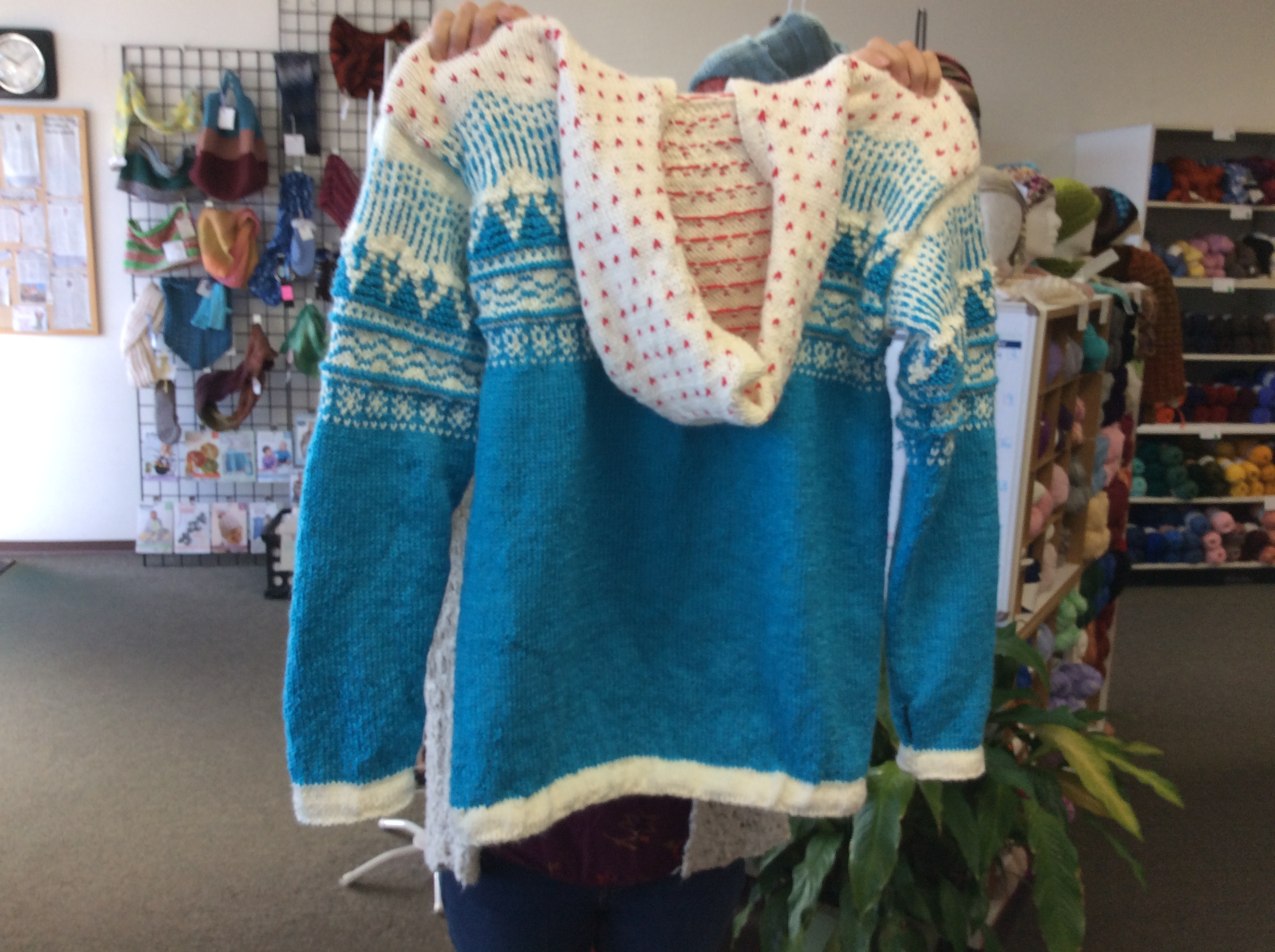 Celeste's Fair Isle Hooded Sweater  - Ba