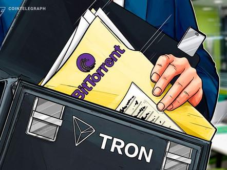 TRON adquire o maior operador de plataforma P2P BitTorrent.