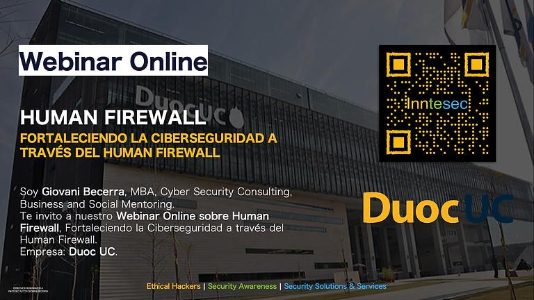 Webinar Online: Fortaleciendo la Ciberseguridad a través del Human Firewall
