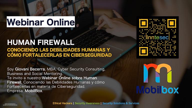 Webinar Online: Conociendo las Debilidades Humanas y que es el Human Firewall