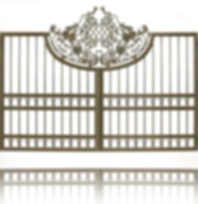 CLASSIC aluminum gates, TONDA line. You can make swing gates, sliding gates, Cantilever gates, pedestrian gates.